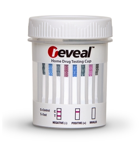 REVEAL 12 PANEL CUP - (THC/COC/AMP/OPI300/mAMP/PCP/BAR/BZO/MTD/MDMA/OXY/TCA)