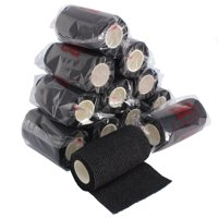 """Ever Ready First Aid Self Adherent Cohesive Bandages 4"""" x 5 yds – Tactical Black (12 count)"""