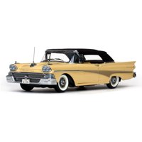 1958 Ford Fairlane 500 Closed Convertible Sun Gold / Black 1/18 Diecast Car Model by Sunstar