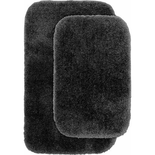 Finest Luxury Ultra Plush Nylon 2-Piece Washable Bathroom Rug Set