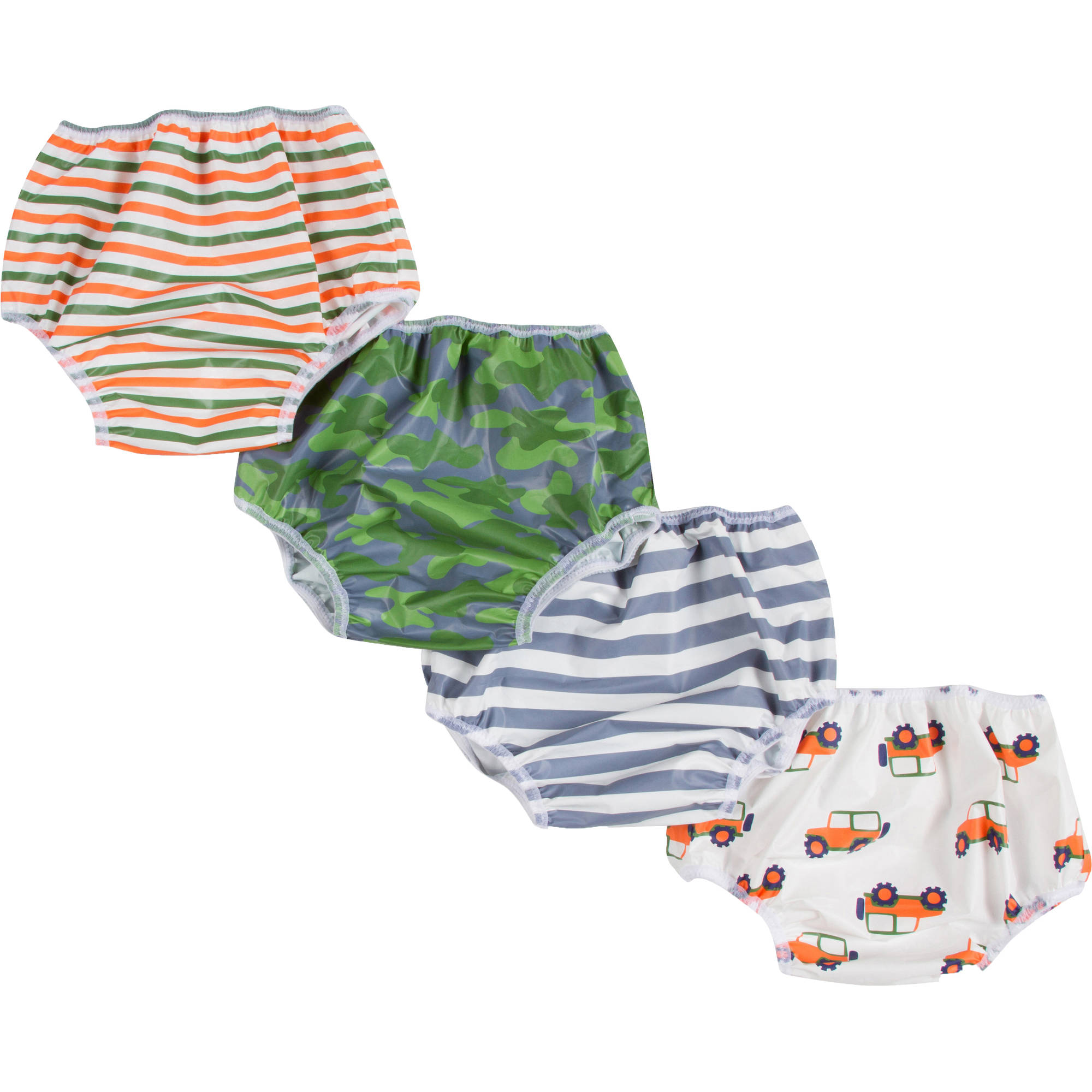 Gerber Baby Toddler Boy Waterproof Training Pant Covers,4-Pack Assorted