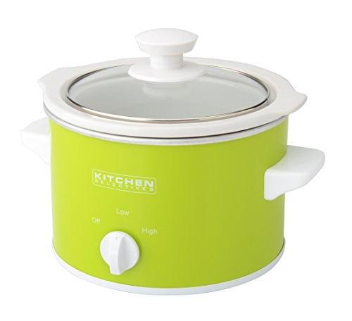 Kitchen Selectives Slow Cooker 1 5 Quart Green Walmart Com Walmart Com