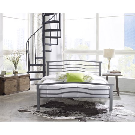 premier marita metal platform bed frame full with bonus base wooden slat system