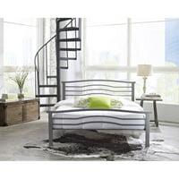 Premier Marita Metal Platform Bed Frame, Full with Bonus Base Wooden Slat System