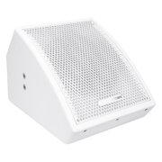 """Sound Town CARME Series 8"""" Coaxial 2-way Professional PA DJ Stage Monitor Speaker, White with U Mounting Bracket, for Installation, Live Sound, Bar, Church (CARME-U8MW)"""
