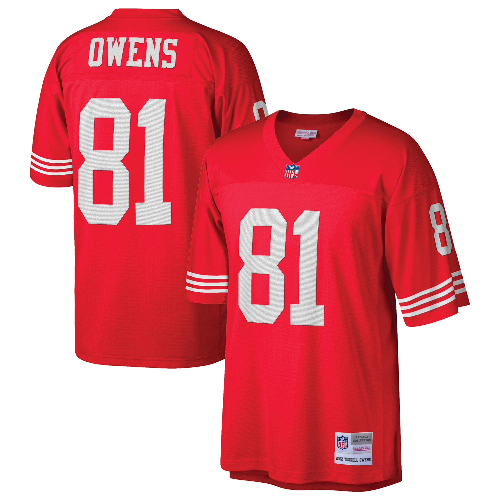 Terrell Owens San Francisco 49ers Mitchell & Ness Retired Player Replica Jersey - Scarlet