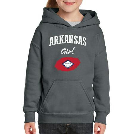 Arkansas Girl Youth Hoodie Hooded Sweatshirt