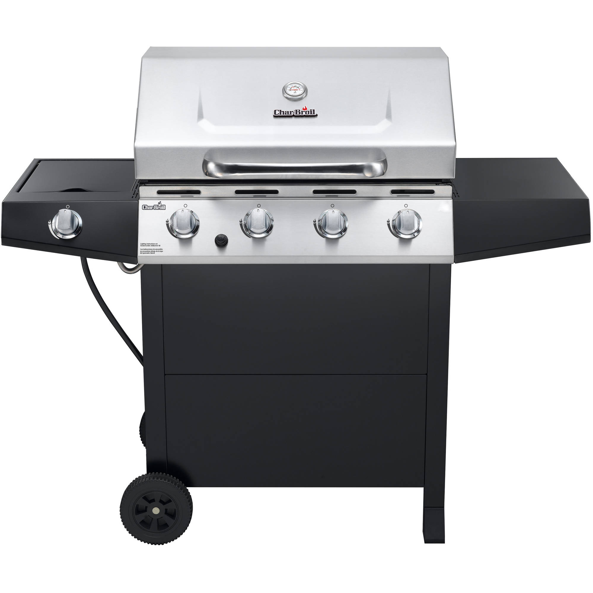 Char Broil 4 Burner Gas Grill With Side Burner Stainless