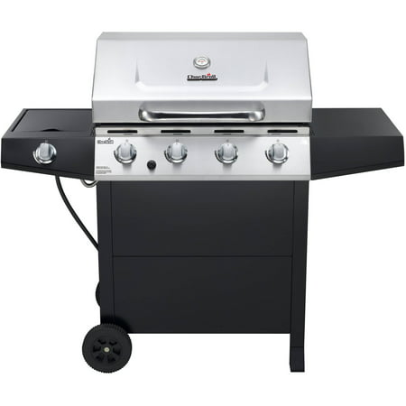 char broil 4 burner gas grill with side burner stainless steel. Black Bedroom Furniture Sets. Home Design Ideas