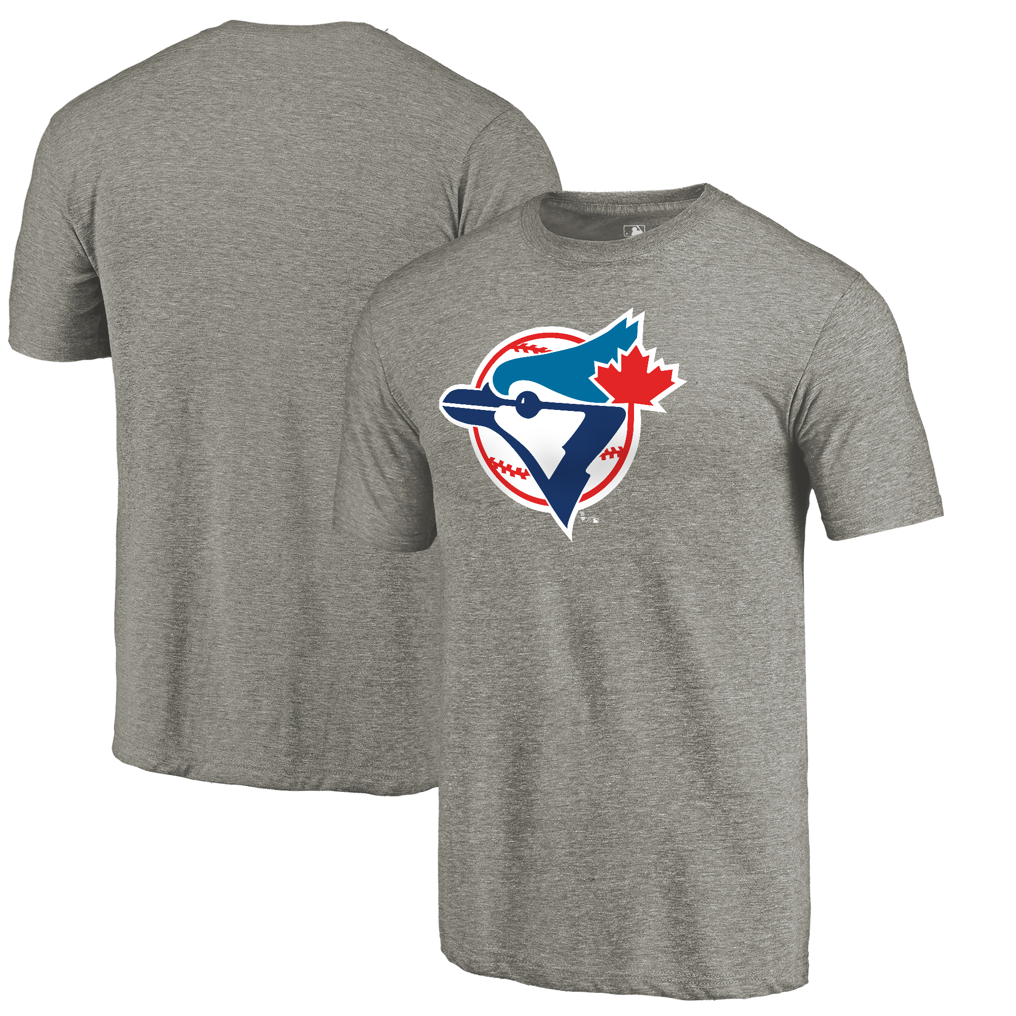 Toronto Blue Jays Fanatics Branded Cooperstown Collection Forbes Tri-Blend T-Shirt - Ash