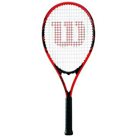 Wilson Federer Adult Tennis Racket Red & (Tennis Racquet Racket Bag)