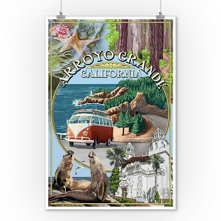 Arroyo Grande - Arroyo Grande, California -  Montage - Lantern Press Poster (9x12 Art Print, Wall Decor Travel Poster)