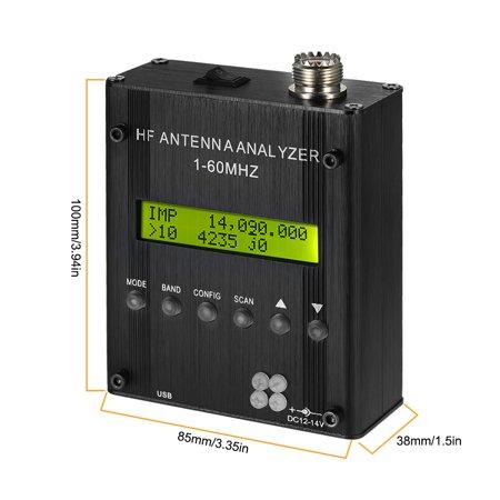 MR300 Digital Shortwave Antenna Analyzer Meter Tester 1-60MHz RF SWR for Ham Radio with BT - image 2 de 7
