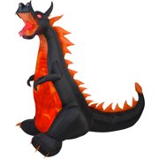 Gemmy Airblown Inflatable 7' X 7.5' Dragon with Lights and Animation Halloween Decoration