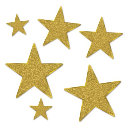 Glittered Foil Star Cutouts - Star Cutout