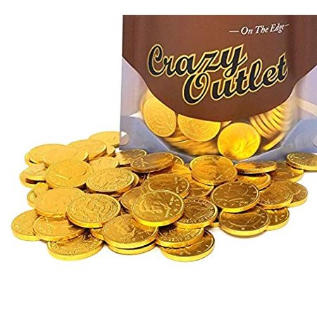 Gold Coins, Milk Chocolate Candy, Bulk Pack (Pack of 2 lbs) - Coin Chocolate