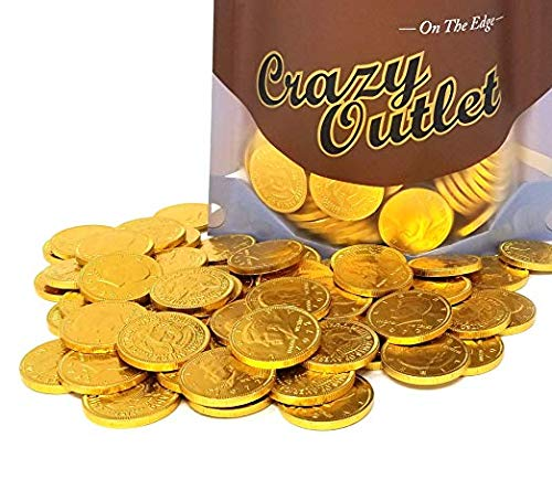 Gold Coins, Milk Chocolate Candy, Bulk Pack (Pack of 2 lbs)