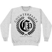 Counterparts Men's  Olive Branch Sweatshirt Grey