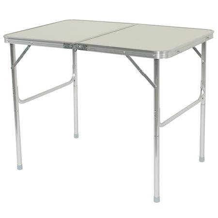 90 x 60 x 70cm Home Use Aluminum Alloy Folding Table White