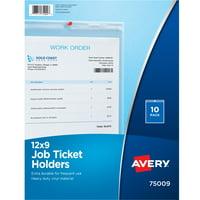 "Avery Job Ticket Holders, 9"" x 12"", 10 Holders (75009)"