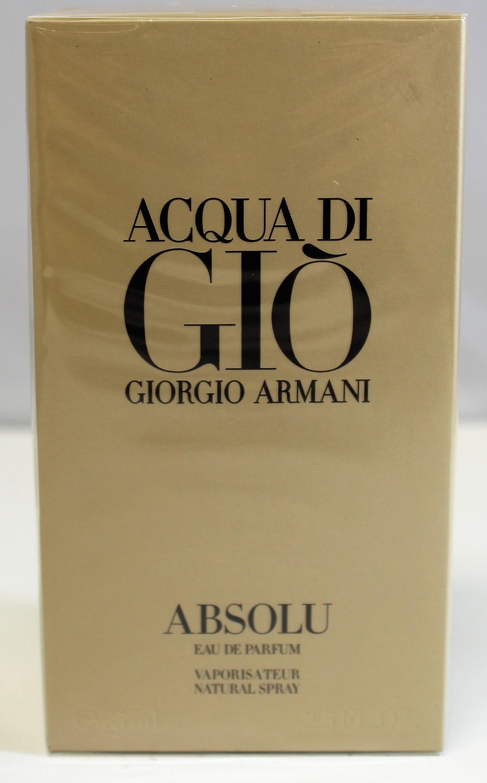448a80a9f856 Giorgio Armani - Acqua Di Gio Absolu By Giorgio Armani 2.5 Oz Eau De Parfum  Spray For Men Sealed - Walmart.com