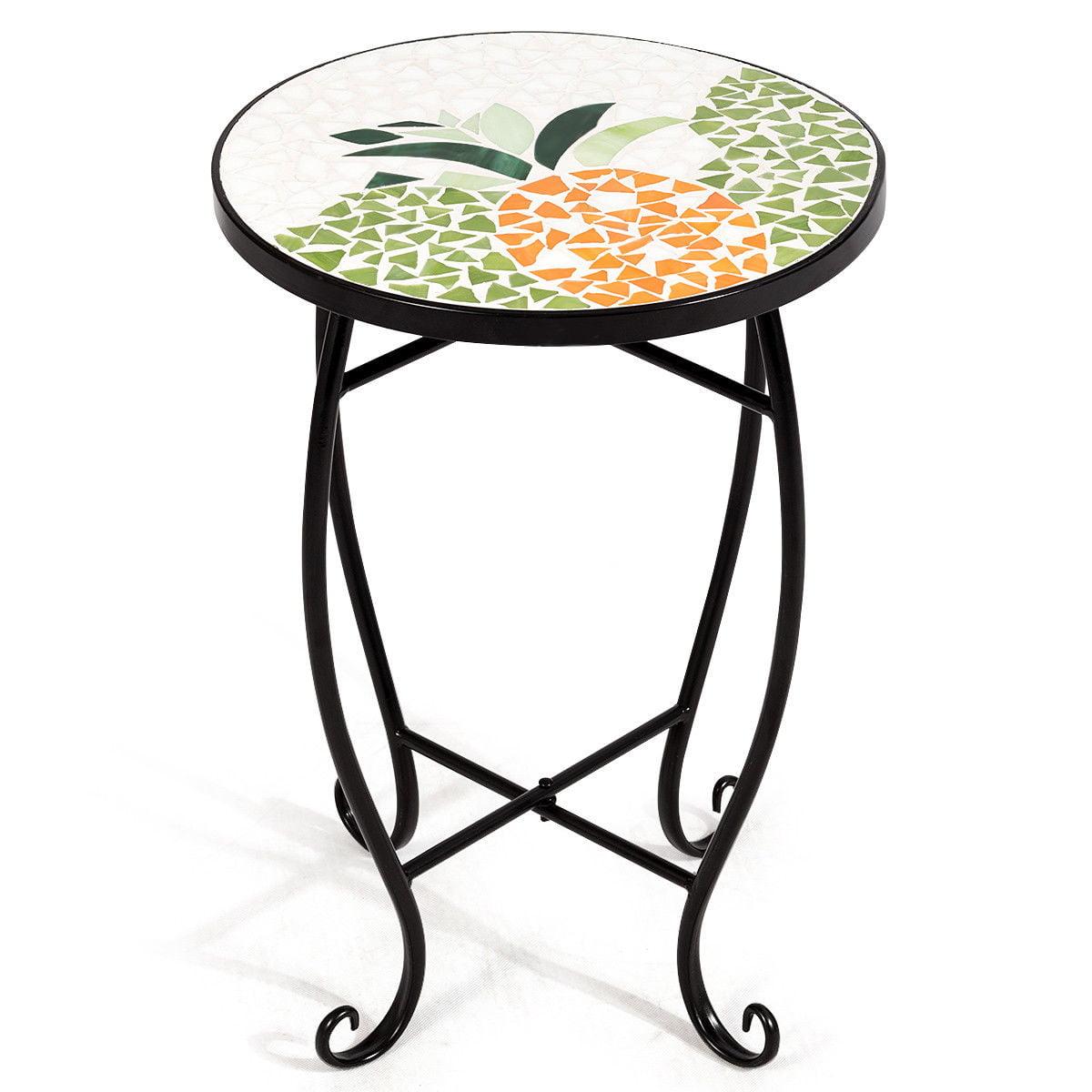 Costway Pineapple Outdoor Indoor Accent Table Plant Stand Scheme Garden Steel by Costway