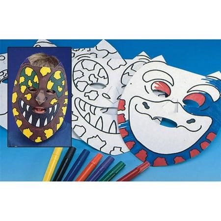 Color Me Dinosaur Masks Craft Kit, Pack of 24