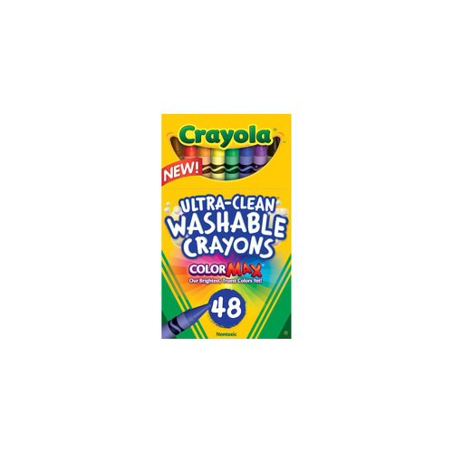 Crayola Box of Ultra-Clean Washable Crayons, 48 Colors