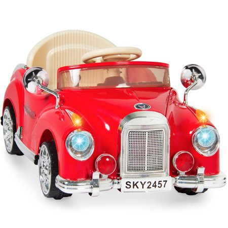Best Choice Products Ride On Car Rc Classic Car Remote Control Electric Battery Power   Red