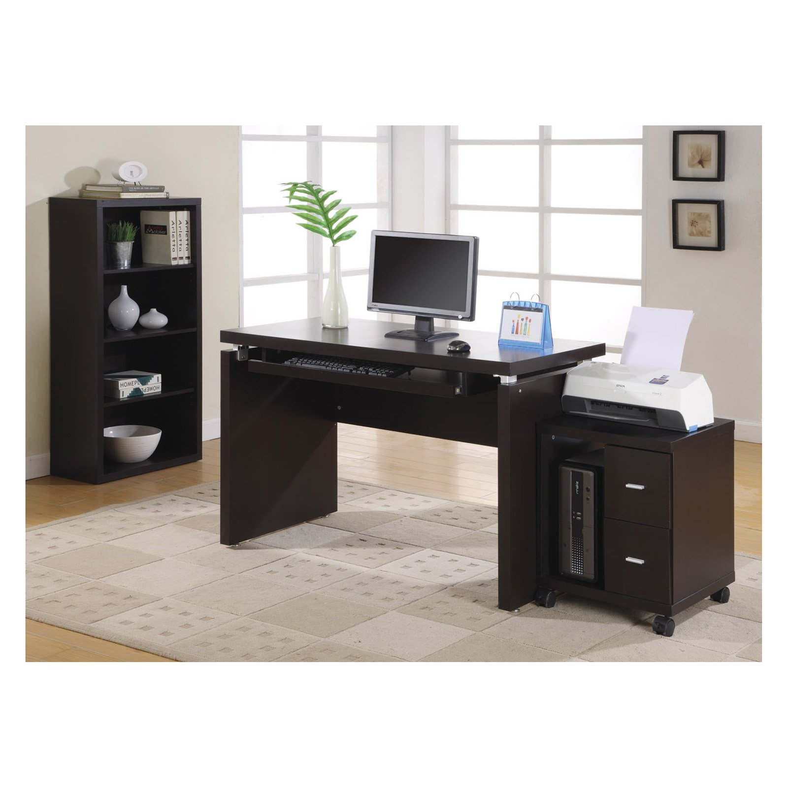 Monarch Cappuccino In Computer Desk Walmart Com