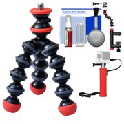Joby GorillaPod Magnetic Mini Flexible Tripod with Hand Grip + Action Camera Clamp + Kit