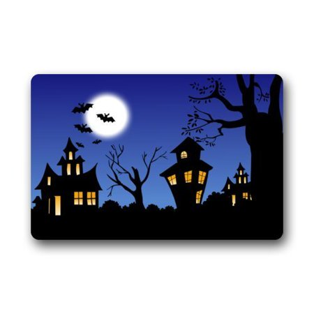 WinHome Halloween Doormat Floor Mats Rugs Outdoors/Indoor Doormat Size 23.6x15.7 inches
