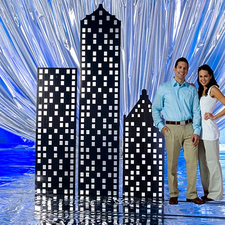 5 ft. 6 in. to 9 ft. Metro Magic Building Standees