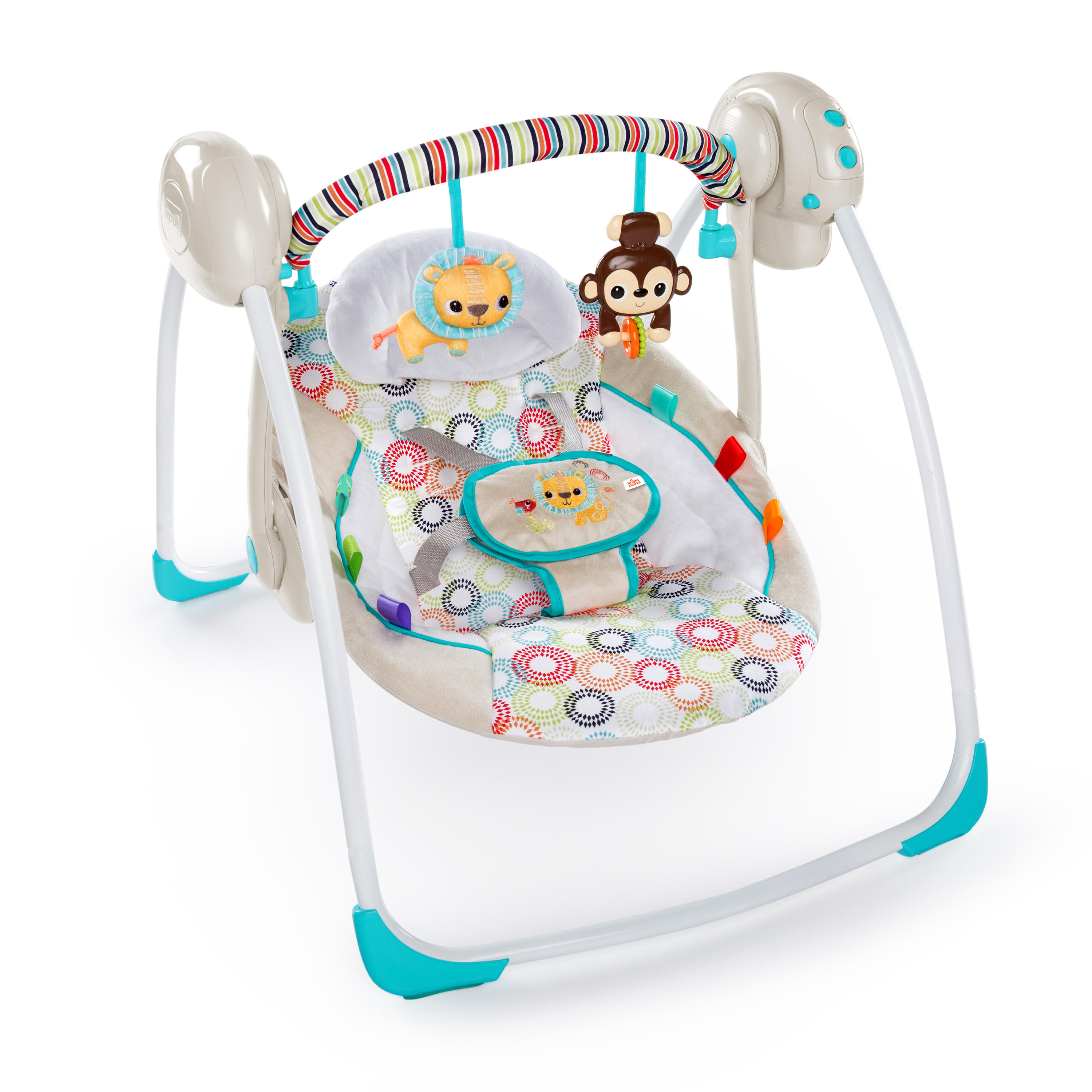 Bright Starts Portable Swing With Whisperquiet Technology Petite Jungle