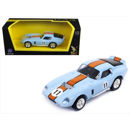 1965 Shelby Cobra Daytona Coupe No.11 1 by 43 Scale Diecast Model Car - Light