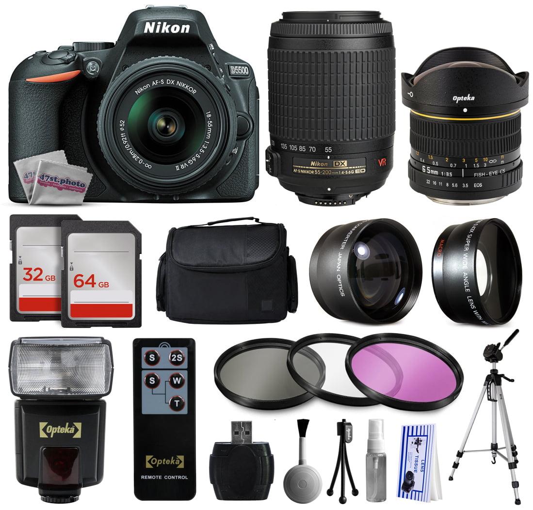 Nikon D5500 DSLR Digital Camera with AFS 18-55mm Lens (15...