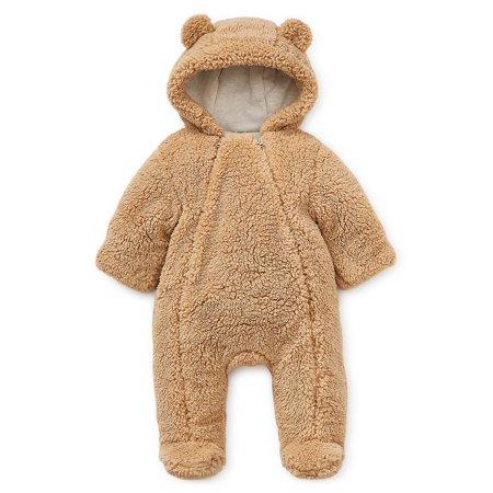 Baby Girl's Hooded Faux Fur Pram