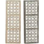 Decmode Wood And Metal Wall Decor Set Of 2 Multi Color
