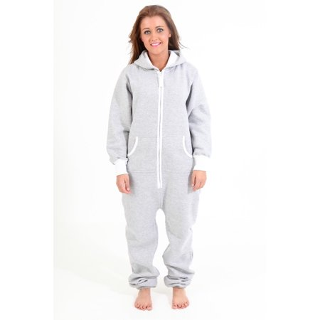 77c5c6c306d Skylinewears - SkylineWears Women s Onesie Playsuit Ladies Jumpsuit Gray  Medium - Walmart.com