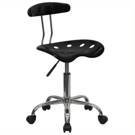 Scranton & Co Computer Task Office Chair in Black and Chrome - image 1 de 4