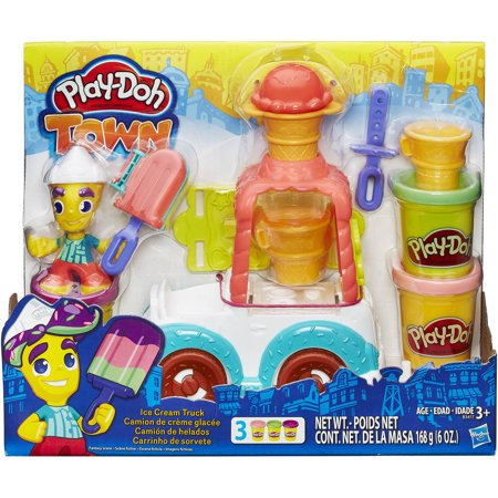 95b40172c5b Play-Doh Town Ice Cream Truck with 3 Cans of Dough - Walmart.com