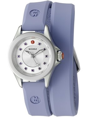 Michele Mini Cape Women's Silicone 25mm Analog Watches