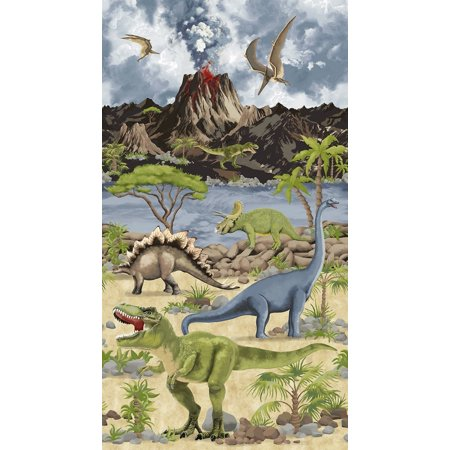 Timeless Treasures Quilting (Timeless Treasures Dino World Stone 23 inch Dinosaur Panel)