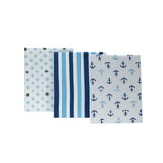 Little Bedding by Nojo Crib Fitted Sheet Set, Splish Splash, 3 pack