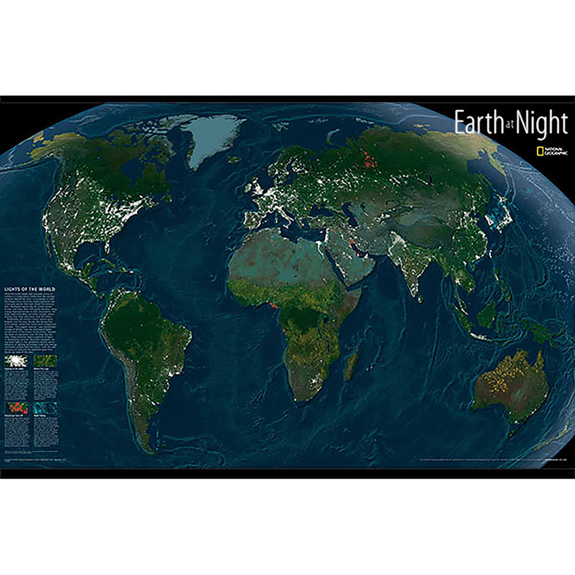 WallPops Earth At Night Map Decal