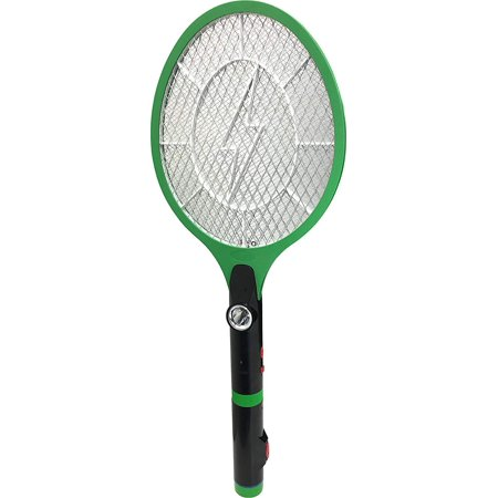 2 in 1 Lightweight Electric Bug Zapper LED Flashlight No Batteries Needed Rechargeable Racket Fly Swatter Mosquito Zapper - Flashlight Never Needs Batteries