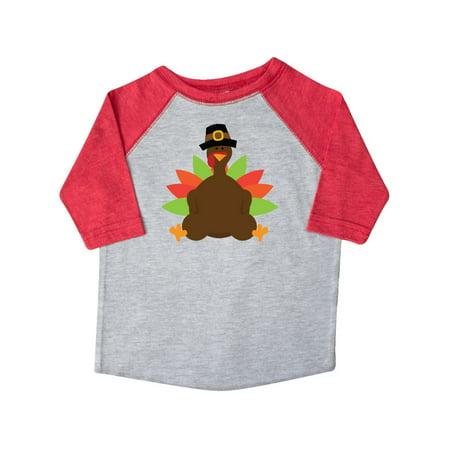 Thanksgiving Pilgrim Turkey Toddler T-Shirt - Pilgrim Boy