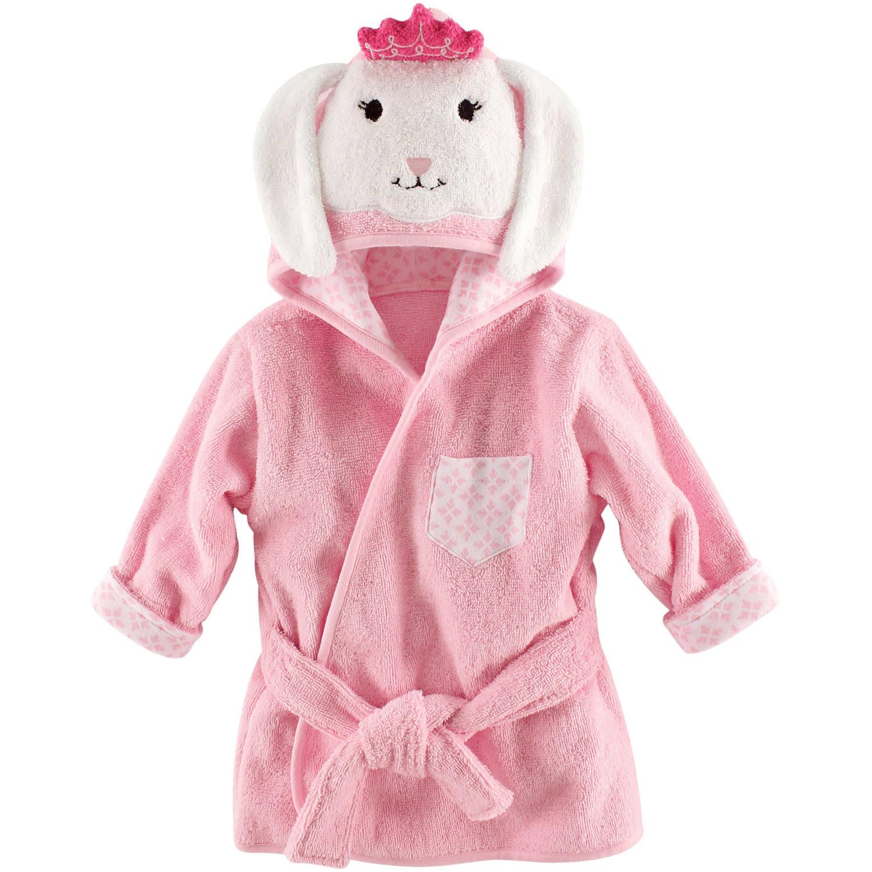 Hudson Baby Newborn Baby Girls Princess Bunny 100% Cotton Bathrobe, Size 0-9M