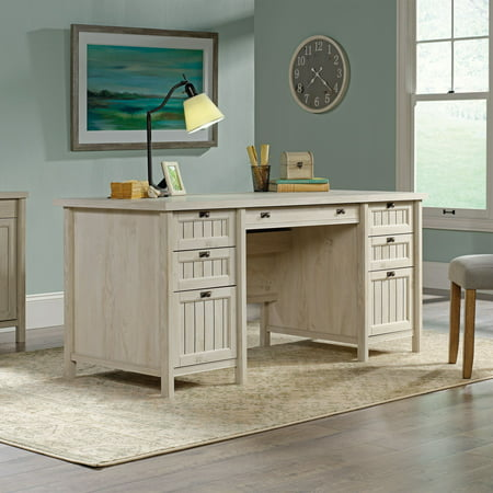 Sauder Costa Executive Desk, Chalked Chestnut Finish (Ash Executive Desk)