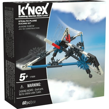 Knex Serpents - K'NEX Imagine - Stealth Plane Building Set 60 Pieces For Ages 5+ Construction Education Toy
